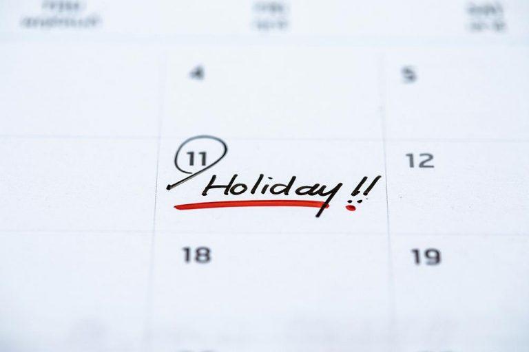 2020 public holidays
